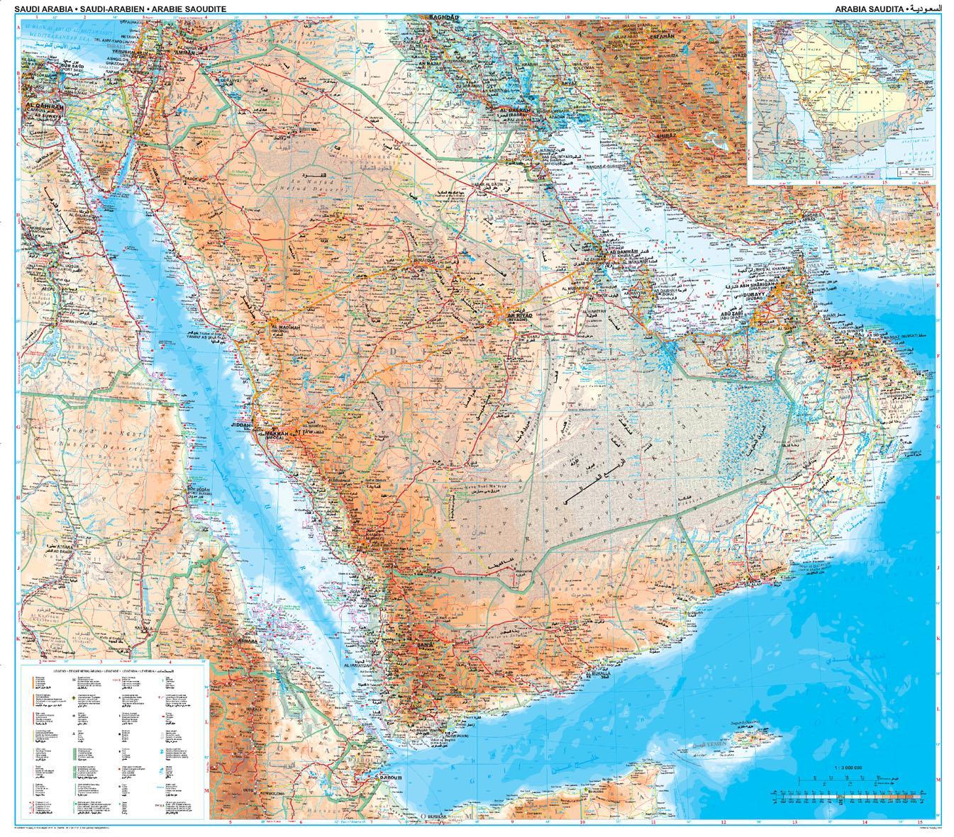 Topographic Map Of Saudi Arabia.Saudi Arabia Topographic Map Map Of Saudi Arabia Topographic
