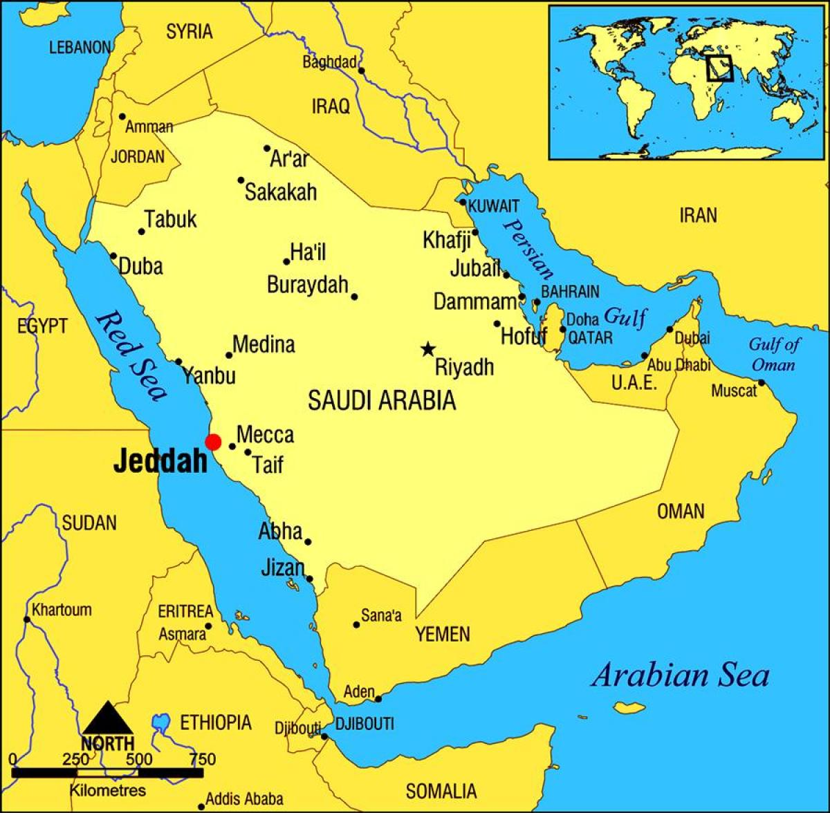 Jeddah Saudi Arabia map - Jeddah KSA map (Western Asia - Asia)