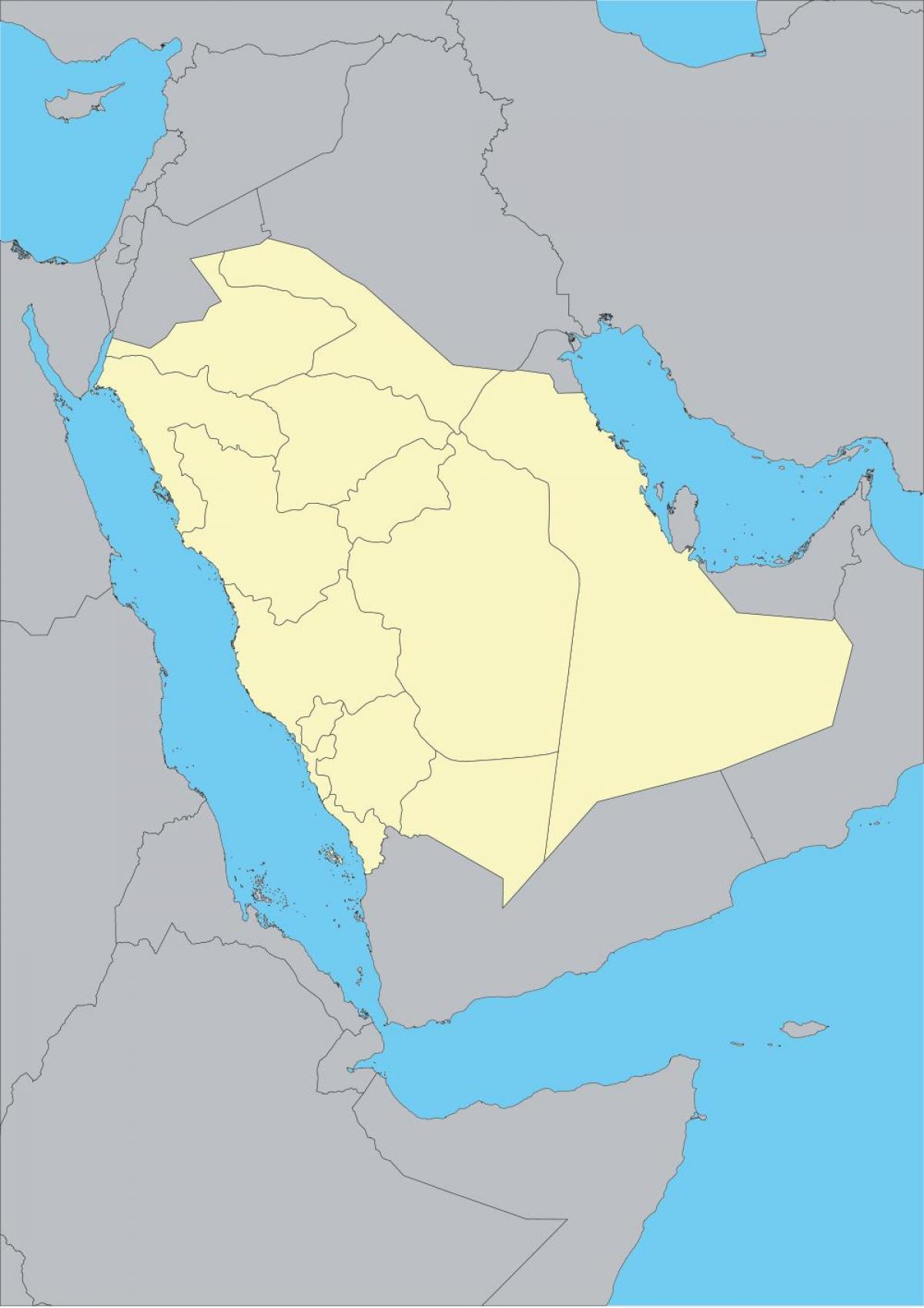 Map of Saudi Arabia outline