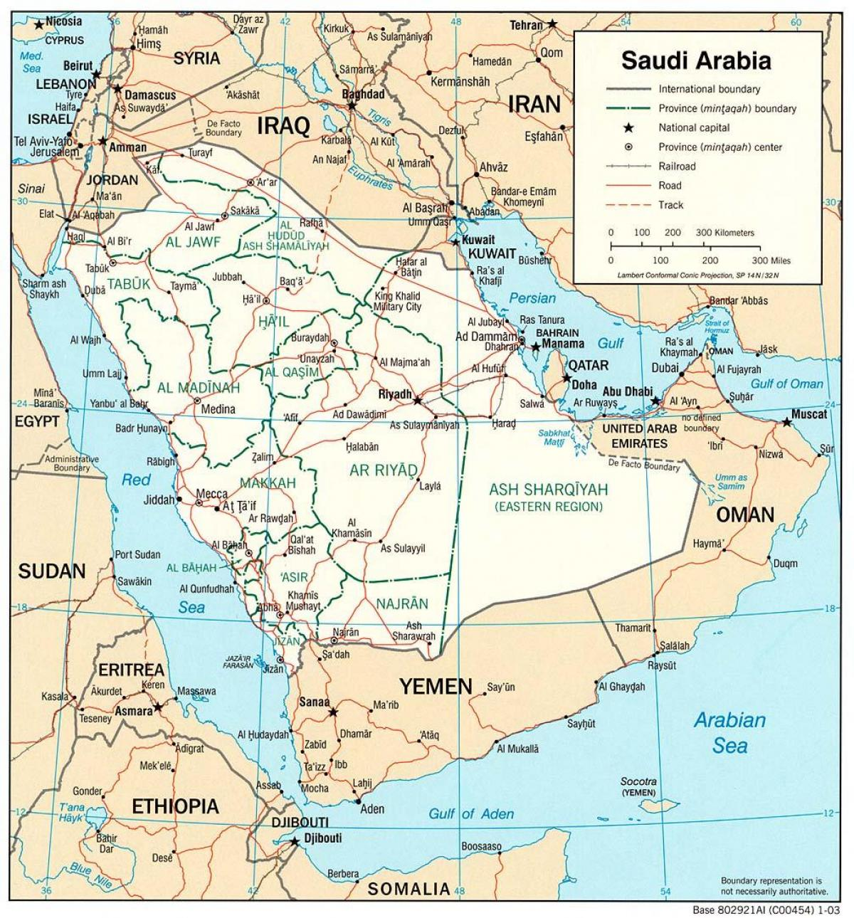 Saudi Arabia full map