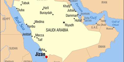 Jizan KSA map