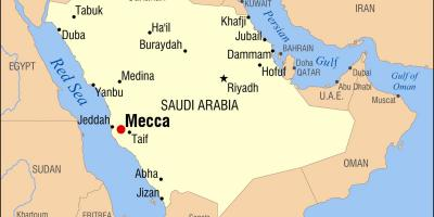 Map of mecca in Saudi Arabia
